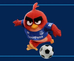 Angry Birds sponsor maillot manche d'Everton