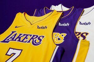 NBA – Wish sponsor maillot des Los Angeles Lakers