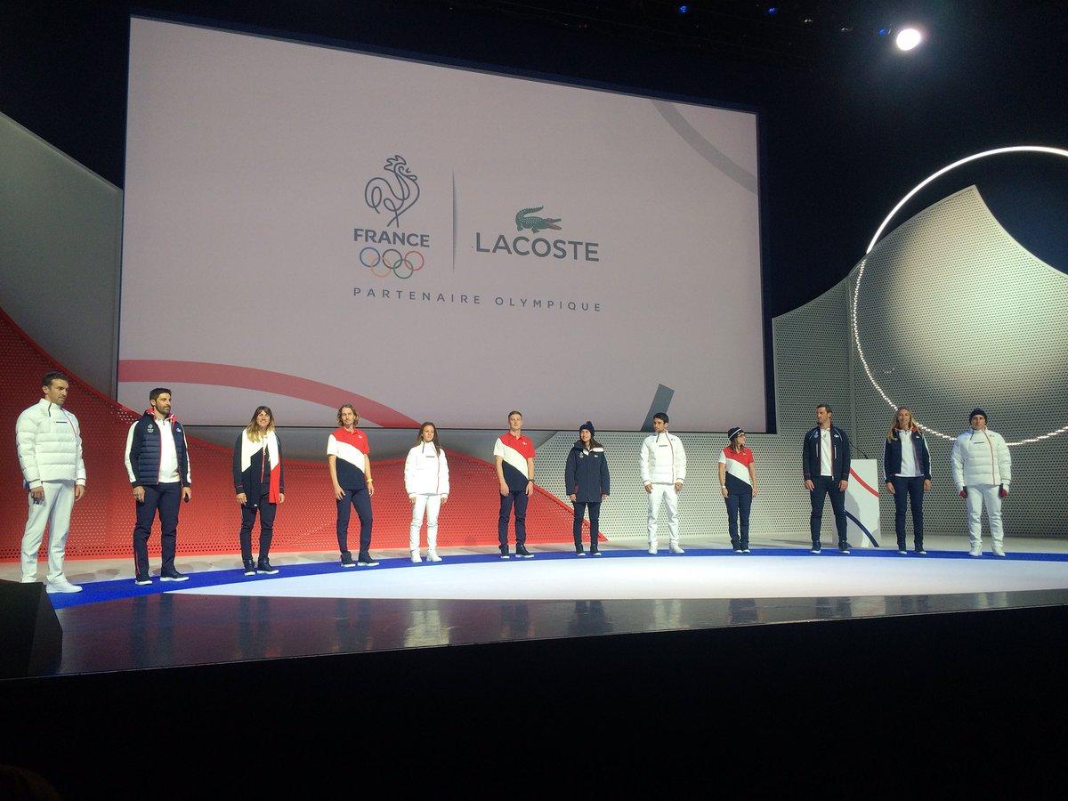 Officielles Lacoste L Tenues De Dévoile Les Pyeongchang 2018 uPZikOX