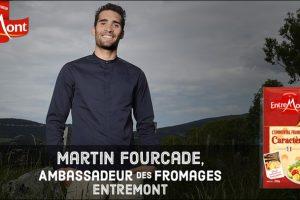 Martin Fourcade ambassadeur des fromages Entremont