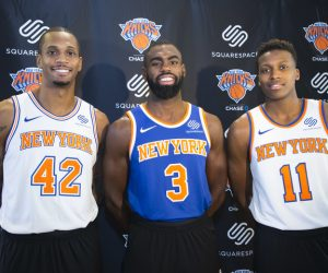 NBA – Squarespace sponsor maillot des New York Knicks