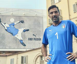 Le clin d'oeil de Puma à Buffon pour le lancement du nouveau maillot domicile de l'Italie