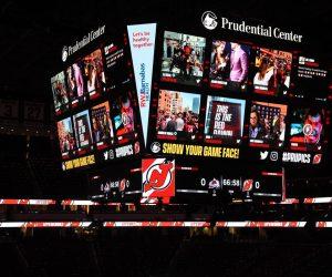 Fan Experience – Le Prudential Center (New Jersey Devils) accueille le plus grand scoreboard installé dans une Arena
