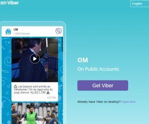 L'Olympique de Marseille lance son compte sur Rakuten Viber