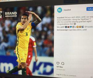 Tim Cahill et sa célébration de buts sponsorisée par un sponsor du joueur ?