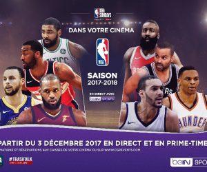 La NBA de retour dans les cinémas français avec beIN SPORTS et CGR Events