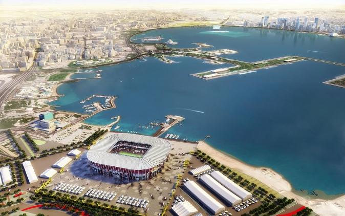 Le qatar d voile un stade enti rement d montable pour la - Qatar football coupe du monde ...