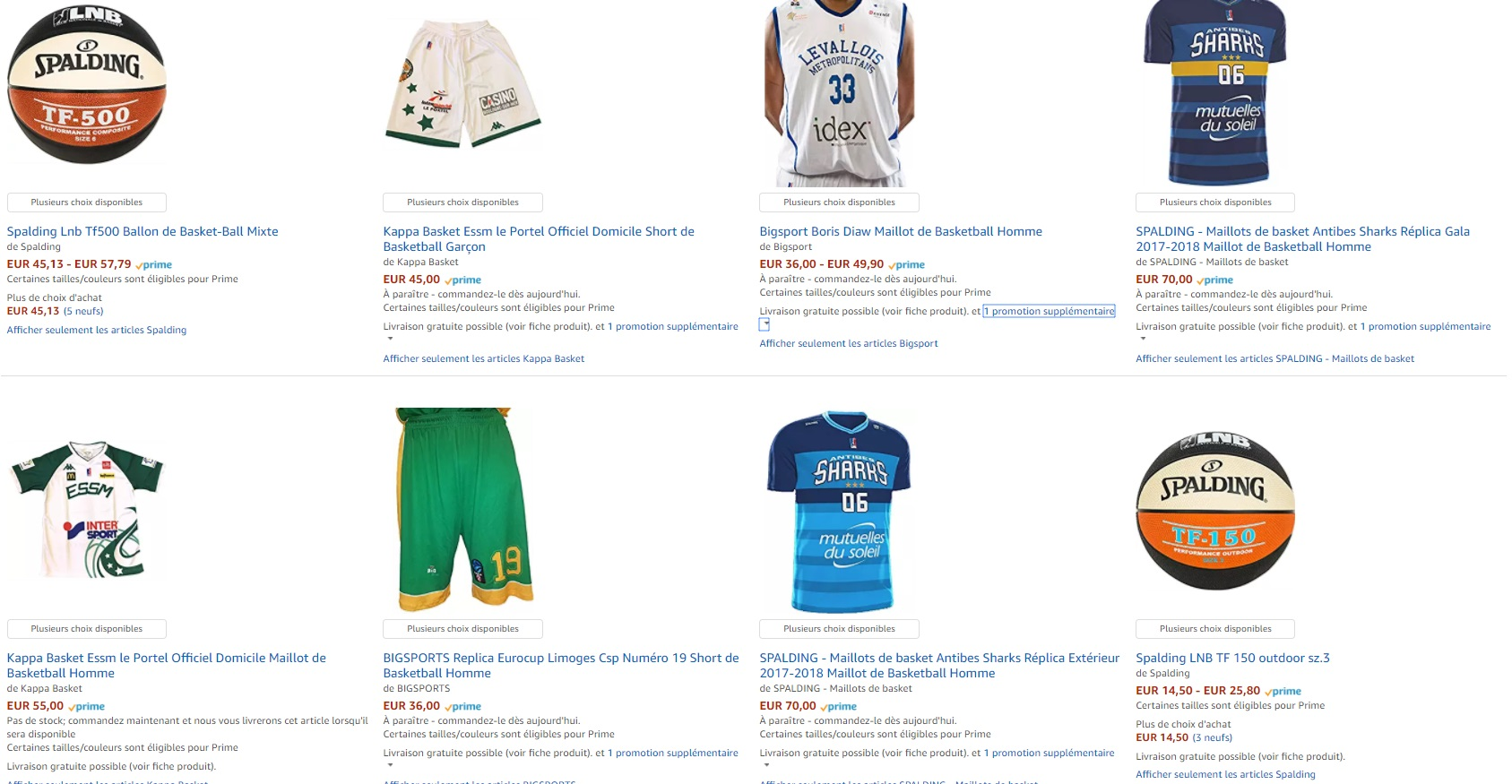 great prices finest selection great look Basket - Amazon.fr lance sa boutique dédiée aux clubs LNB ...
