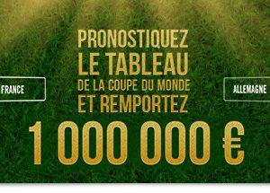 Winamax offre 1 million d'euros si vous trouvez le tableau final de la Coupe du Monde 2018