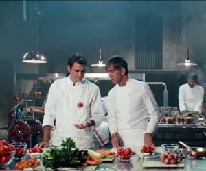 Roger Federer enfile la toque de cuisinier pour Barilla