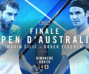Open Australie 2018 – Un pic à 524 000 spectateurs pour C8 lors de la finale Federer-Cilic