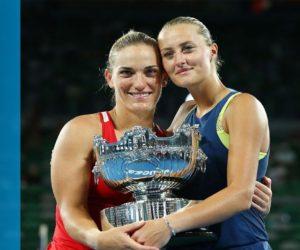 Kristina Mladenovic remporte le double à l'Open d'Australie et partage un jolie chèque avec Timea Babos