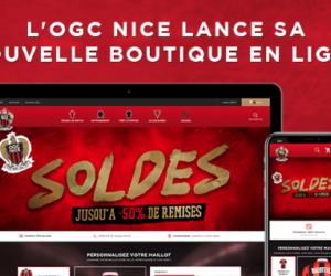 L'OGC Nice lance sa nouvelle boutique en ligne conçue par WiziShop
