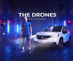 Lucas Pouille à l'affiche de la nouvelle publicité Peugeot «The Drones»