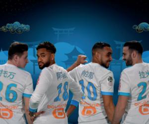 L'Olympique de Marseille arborera des maillots floqués en mandarin face à Bordeaux