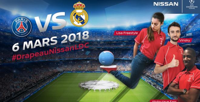 Nissan réitère l'activation «Drapeau Nissan LDC» pour PSG – Real Madrid