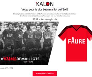L'En Avant Guingamp appelle à voter pour le plus beau maillot de son histoire