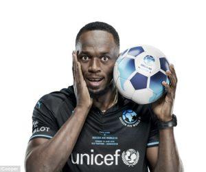 Usain Bolt va participer à un match sur la pelouse de Manchester United pour l'Unicef