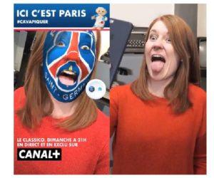 Canal+ lance des filtres PSG et OM sur Facebook à l'occasion du Classico