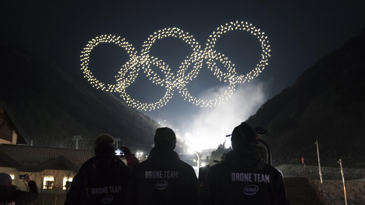 Jeux Olympiques 2018 : un record de 1218 drones Intel pour l'ouverture