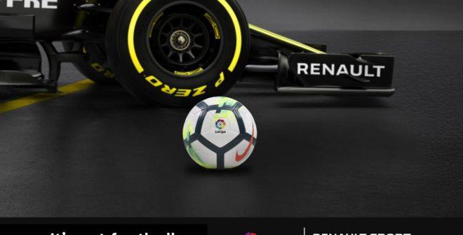 LaLiga Partenaire Officiel de Renault F1 s'affichera sur les monoplaces