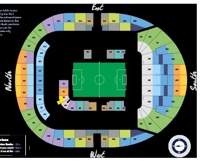 premier league tottenham hotspur d voile le prix des abonnements de son nouveau stade. Black Bedroom Furniture Sets. Home Design Ideas