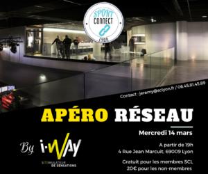 Networking – Apéro Réseau «Sport Connect Lyon» mercredi 14 mars à l'i-Way
