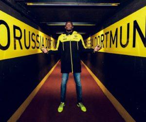 Opération de communication réussie pour l'entraînement d'Usain Bolt au Borussia Dortmund