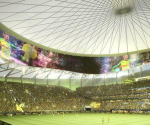 Skybar, écran géant à 360°, toit rétractable… Les intentions architecturales du nouveau stade du FC Nantes (YelloPark)