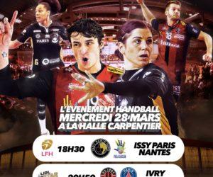 Handball – La Halle Carpentier accueille 2 matchs de LFH et Lidl Starligue ce soir