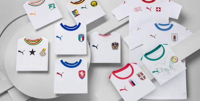Puma dévoile les maillots extérieurs de ses 4 nations qualifiées pour la Coupe du Monde 2018