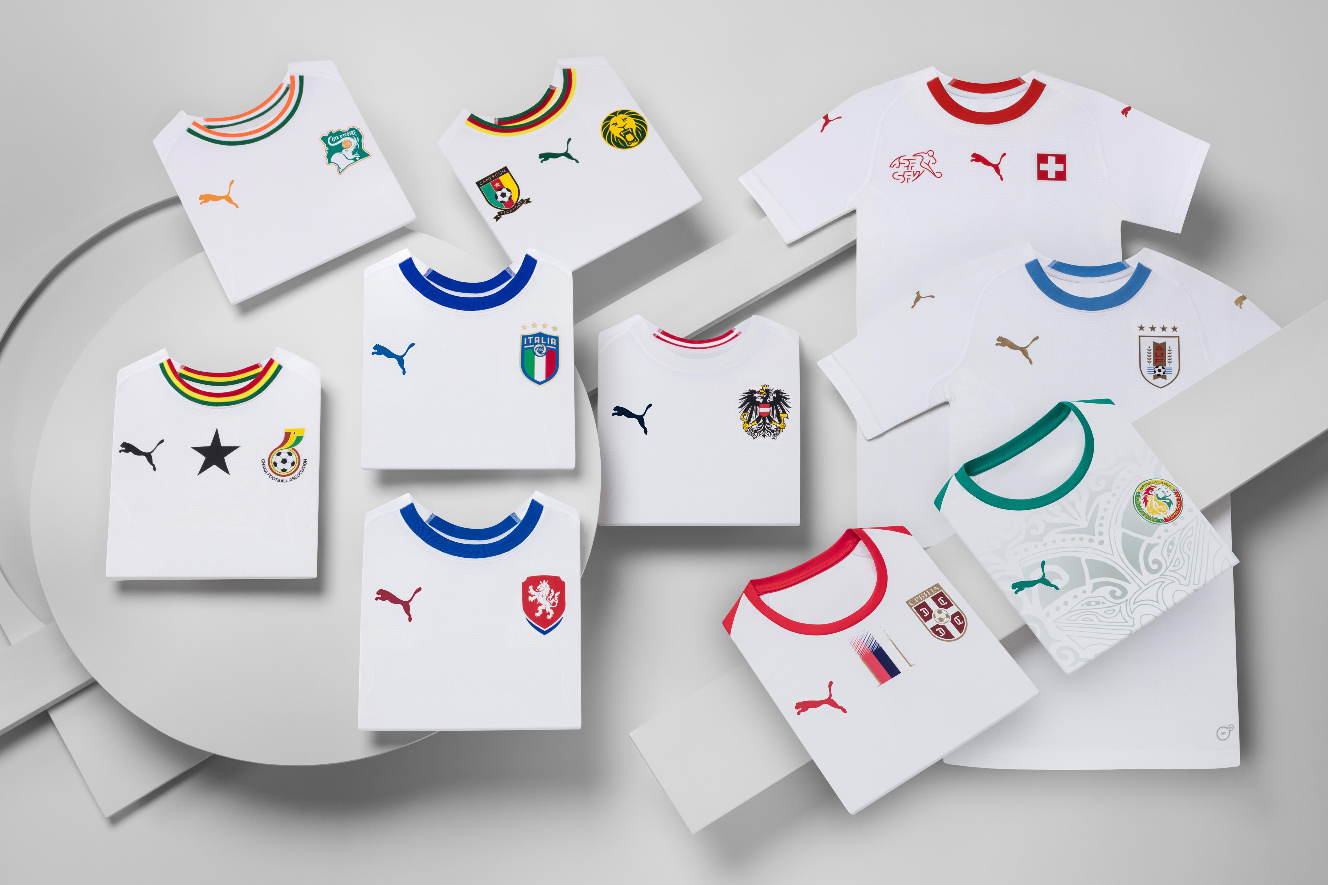 9719c1a5ab0dc Puma dévoile les maillots extérieurs de ses 4 nations qualifiées ...