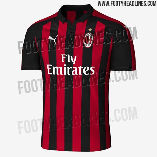 tenue de foot AC Milan nouveau