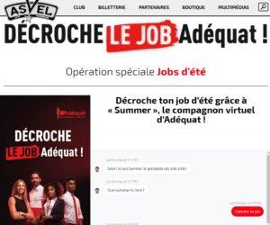 Adéquat recrute sur asveljob.com à l'aide d'un chatbot