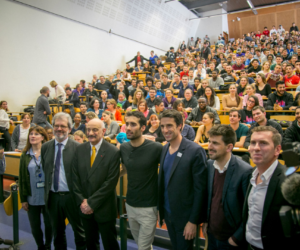 Paris 2024 – Tony Estanguet et Martin Fourcade à la rencontre des étudiants de l'université Paris 13