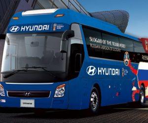 Coupe du Monde 2018 – Hyundai vous invite à choisir le slogan inscrit sur le bus des 32 nations