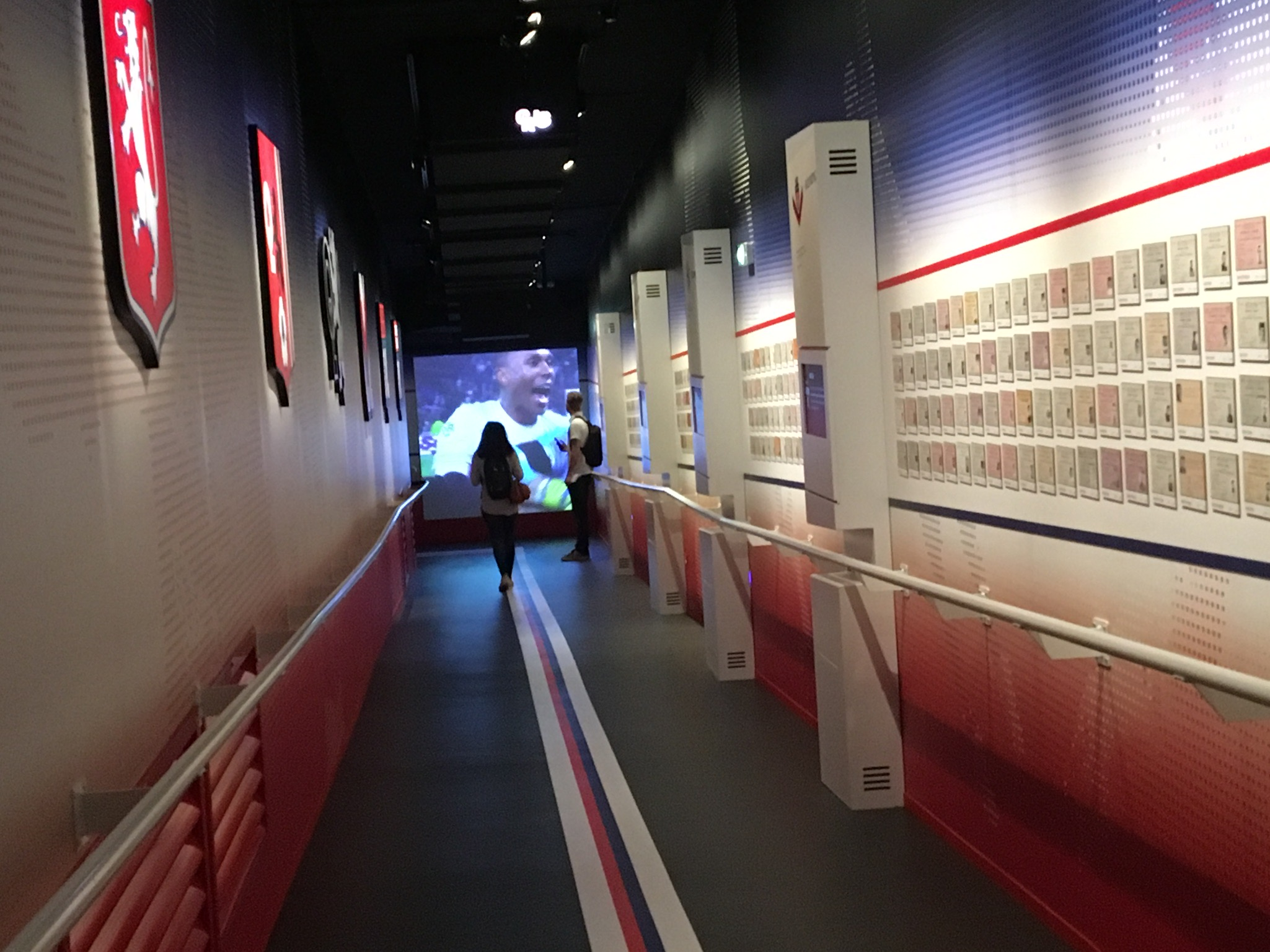 Couloir des licences Musée OL