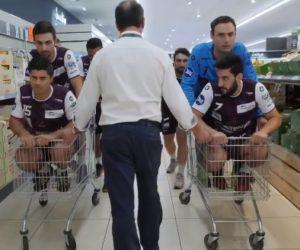 Handball – Istres envahit un Lidl pour célébrer son retour parmi l'élite
