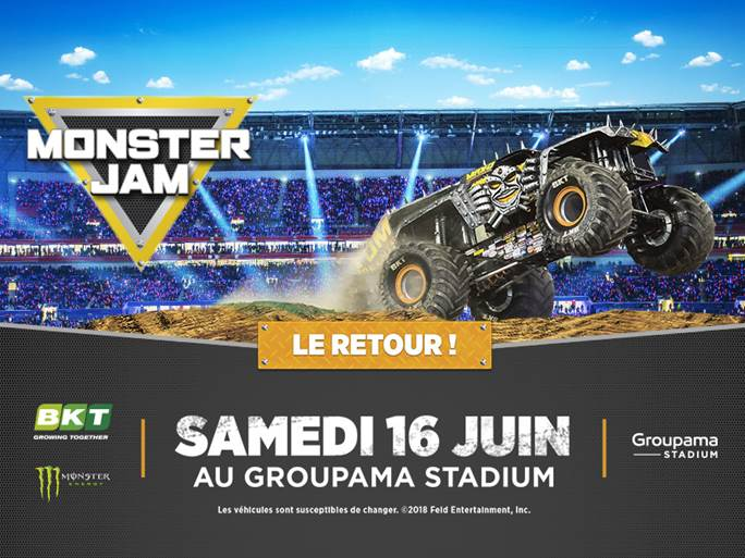 Monster Jam au Groupama Stadium