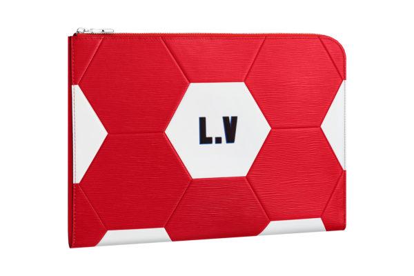 Petite maroquinerie rouge Louis Vuitton Coupe du Monde 3