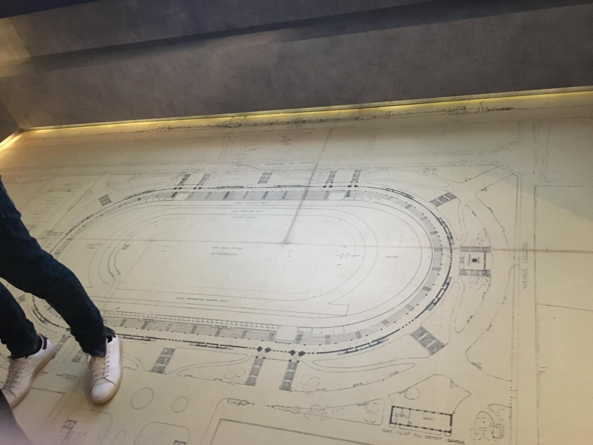 Plan stade Gerland Musée OL