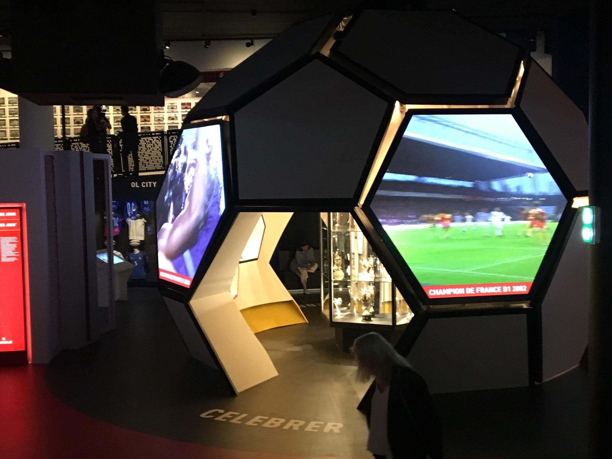 Salle des trophées Musée OL
