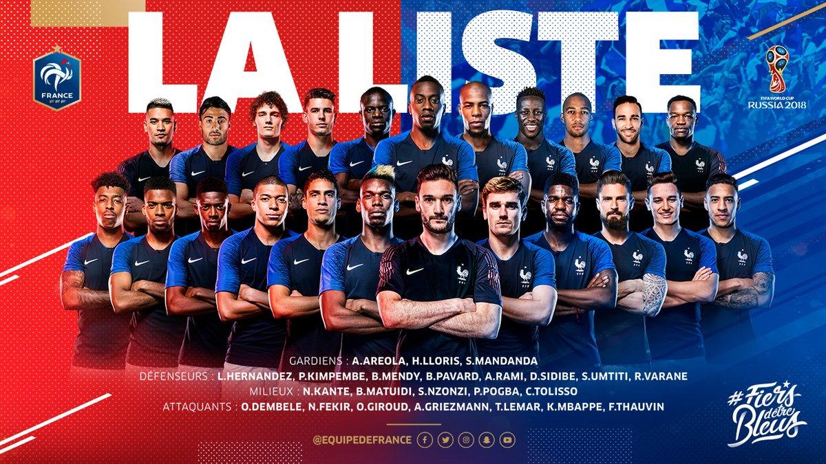 Nike place 13 joueurs dans la liste des 23 de didier deschamps pour la coupe du monde 2018 - Liste des coupes du monde ...