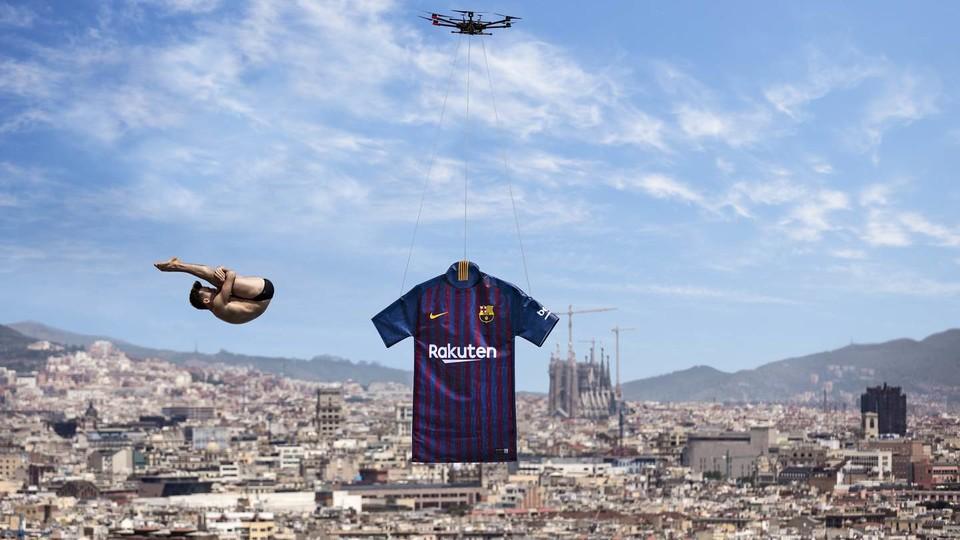 Le Fc Barcelone Et Nike Dévoilent Le Nouveau Maillot Domicile 2018
