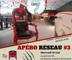 Apéro Réseau #3 «Sport Connect Lyon» au LOU Rugby le mercredi 16 mai