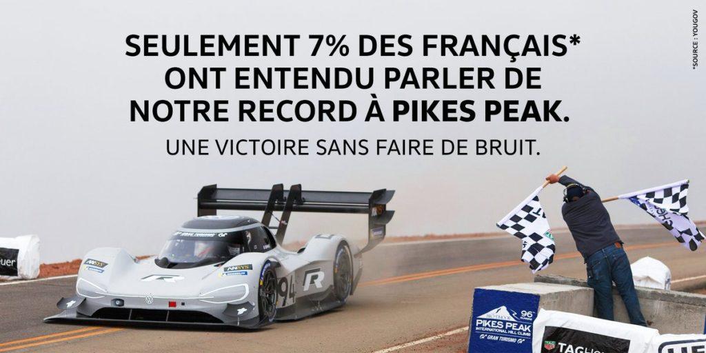 Com' Volkswagen victoire Pikes Peak