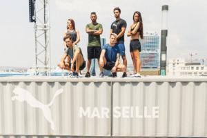 Lewis Hamilton à Marseille pour la Mantra Puma