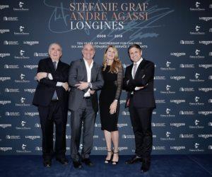 Longines met des montres aux enchères au profit des associations de Stefi Graf et Andre Agassi