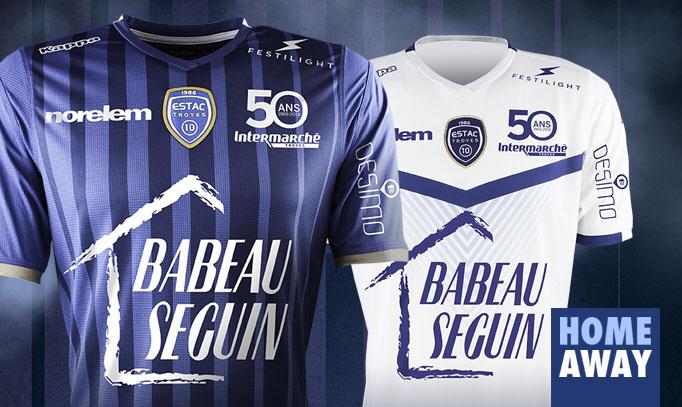 Nouveaux maillots de l'ESTAC Troyes