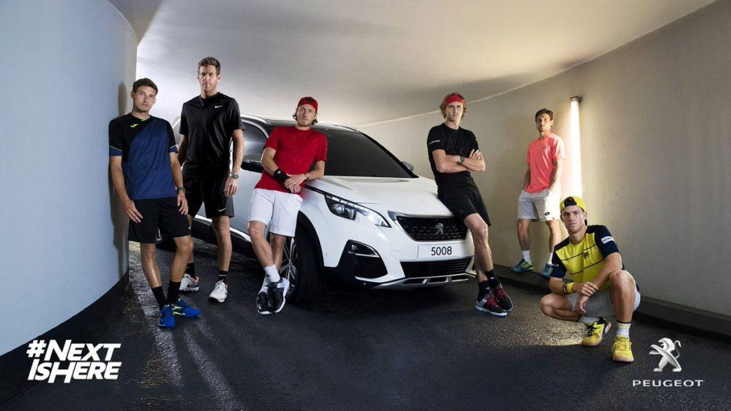 Nouvelle publicité Peugeot avec tennismen